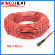 Low Cost Carbon Warm Floor Cable Carbon Fiber Heating Wire Electric Hotline New Infrared Heating Cable(China)