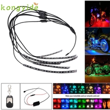Car-styling 6PCS RGB LED Car Motorcycle Chopper Frame Glow Lights Flexible Neon Strips Kit FE28 Levert Dropship
