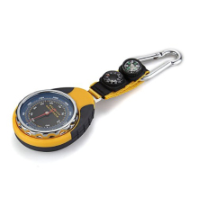4 in 1 Compass Barometer Thermometer With Carabiner Camping Hiking