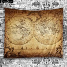New World Map blanket Hippie Home Decorative Wall Hanging Tapestries Boho Beach Towel Yoga Mat Bedspread Table Cloth(China)