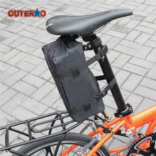 OUTERDO 1 Pcs MTB Bicycle Folding Carrier Bag Bike Carry Cover for Dahon 14inch 16inch 20inch Holder Cycling Folding Carrier Bag
