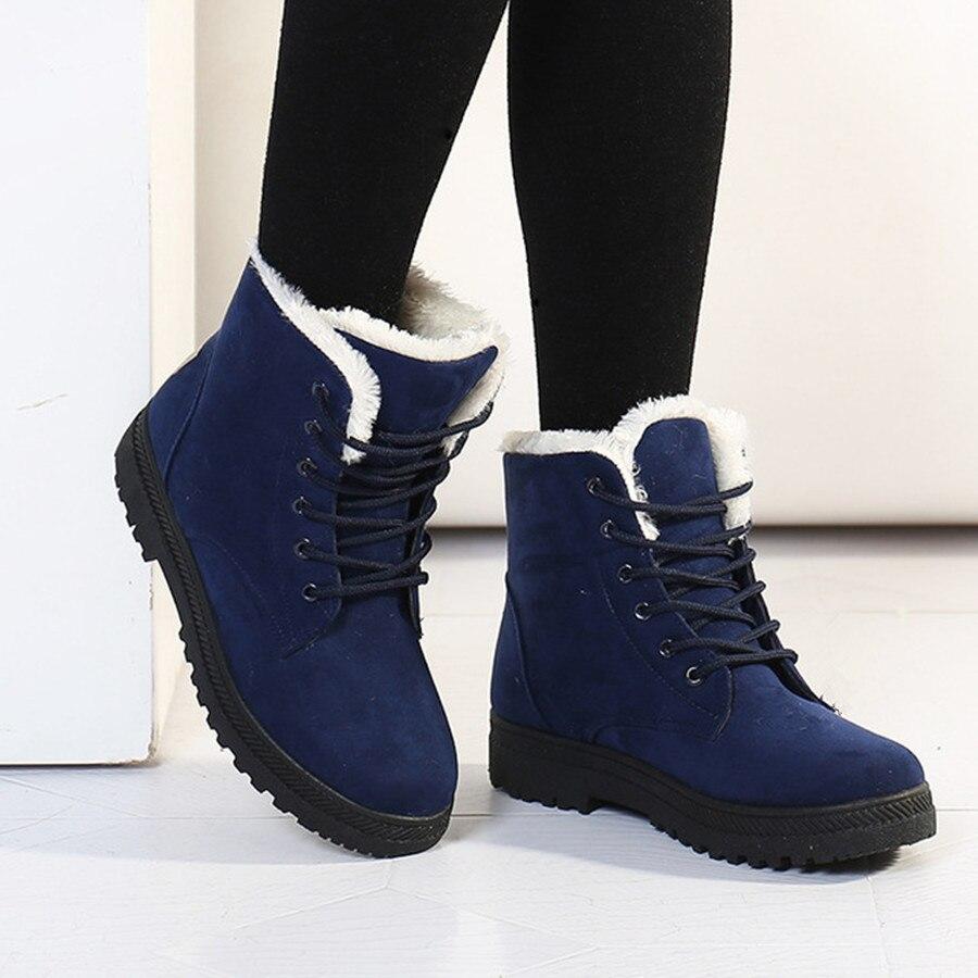 Women Winter Boots 35-42 Fashion Women Boots Women Ankle Snow Boots 2016 Warm heels Shoes<br><br>Aliexpress