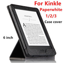 Case For Kindle Paperwhite Protective eBook Reader Smart Cover PU leather For Amazon Kindle Paperwhite 3 2 Protector Sleeve 6''(China)