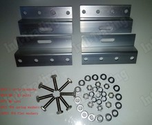 2 sets 4-Z style PV Solar Panel Mounting kits 4 aluminum Brackets with stainless bolt for Solar System Fitting(China)