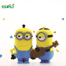 ssdfly 2017 Fashion cute hot Minions Wireless Portable Bluetooth Speaker Mini Speaker MP3 4 Player FM USB Disk Computer Speaker(China)