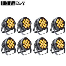 Free Shipping 8pcs/lot Waterproof 12x18w RGBWA UV 6in1 Outdoor LED Par Stage Dj Club Par Can Light Nightclub Lighting