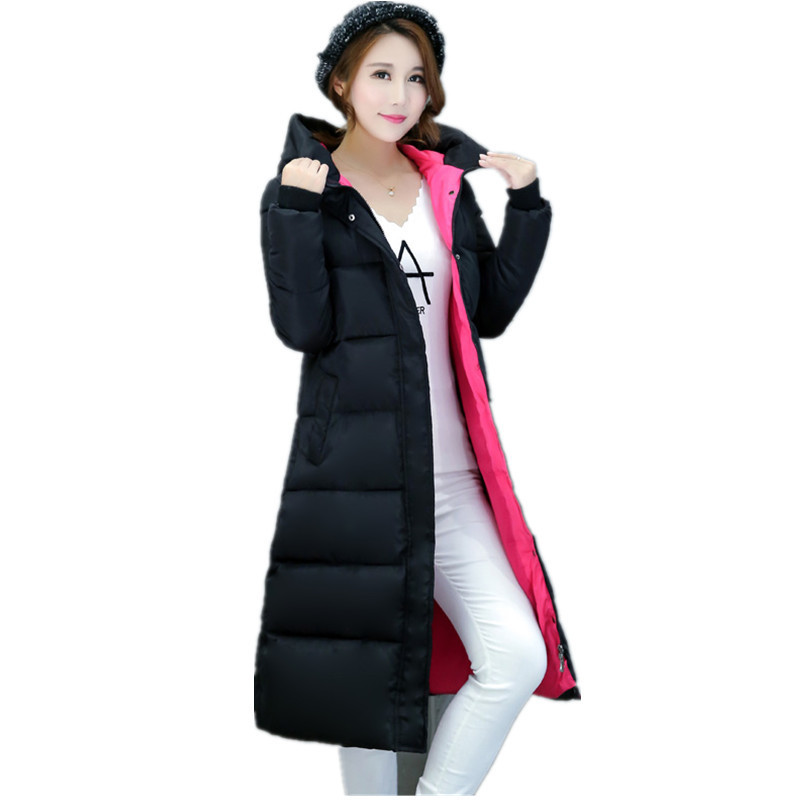 Thick 2017  Women Winter Jacket Coat Down Parka Coat Plus Size Long Warm Loose Hooded Coat Snow Wear Cotton-padded Jacket Îäåæäà è àêñåññóàðû<br><br>