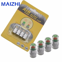 maizhi 4PCS/lot 2.4Bar 36PSI Car Auto Tire Pressure Monitor Valve Stem Caps Sensor Indicator Eye Alert Diagnostic Tools Kit(China)