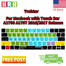 "Buy HRH Traktor Pro 2/Kontrol S4 Functional Shortcuts US Silicone Keyboard Cover Skin Mac Pro 13""15"" Touch Bar A1706 A1707 for $7.99 in AliExpress store"
