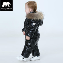 Orangemom official store baby winter jumpsuit , warm outerwear & coats jacket girls , baby clothing boys parka snow wear