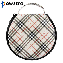 Plaid Pattern 20 Disc DVD VCD DJ CD Bag Case Woven Fabric CD Disk Box Holder Storage Wallet for Car Home