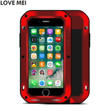 Buy Apple iPhone 7 Plus 7Plus Cover iPhone7 Shockproof Case LOVE MEI Gorilla Toughened Glass Hard Aluminum Metal Cover Cases for $30.00 in AliExpress store
