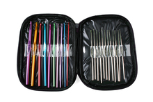 22pcs set Mixed Color Aluminum Crochet Hook Needles for DIY knitting Yarn Kit tools with Case(China)