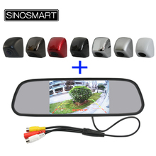 Sinosmart Free Shipping Package (Combo) Selling 5 Inch Rearview Mirror Monitor with Parking Camera 12V/24V for Car/Turck/Bus