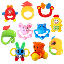 Baby Toy Set 0-12 Months Teether Rattles Mobility On The Bed Plastic Baby Educational Toys For Newborns Children Toy Fun 70C0128(China)