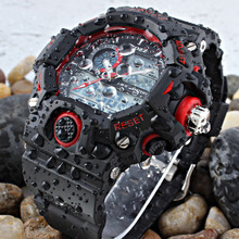 Top EPOZZ Male Digital Sport Watch Men Rubber Band waterproof 50M Swimming Watch Big Dial Alarm  Chronograph heren horloge E2811
