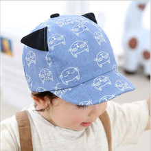 Spring Autumn Lovely Cat Baby Hats Child Bebe Baseball Caps Kids New Fashion Cap for Infant Baby 4-20 Months 1pc