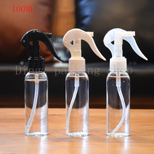 30pcs / lot 100ml transparent rounded shoulders,100cc empty clear makeup setting trigger spray, perfume Plastic spray bottle