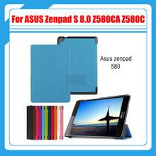 "Magnetic Stand pu leather Case cover For ASUS Zenpad S 8.0 Z580 Z580CA Z580C 8"" tablet cover cases + screen protectors + stylus"