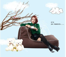2017 new creative beanbag tatami single folding chair recliner sofa brown Ywxuege