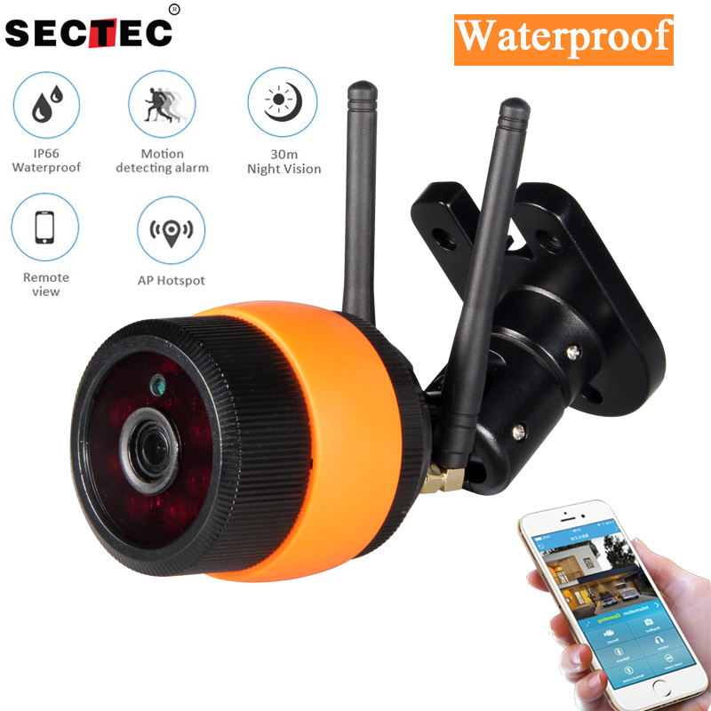 SECTEC 720P 960P Waterproof WIFI Camera Wirless Outdoor Security IP Camera Network CCTV Camera Surveillance P2P Night Vision<br>