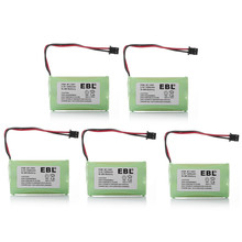 5pcs/lot EBL 1400mAh NI-MH 2.4v Rechargeable Battery For Uniden Cordless Phone BT1007 BT-1007 Batteries free shipping(China)