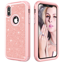 Buy Apple iPhone X Case Shockproof Luxury Diamond Glitter Bling Dual Layer Rubber Phone Case iPhone X for $3.99 in AliExpress store