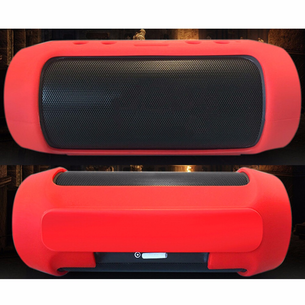 Wireless Bluetooth Speaker Soft Silicone Cases Bag For JBL Charge 2 Charge2 + Storage Portable Cover Travel Charge2+Silicone Box