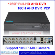 Standalone 16CH 1080P AHD DVR Real-Time CCTV Surveillance Access AHD DVR HDMI H.264 P2P  (No HDD) Supports 1080P AHD Camera