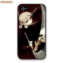 minason Soul Eater Anime Head Cover case for iphone 4 4s 5 5s 5c 6 6s 7 8 plus samsung galaxy S5 S6 Note 2 3 4 H3723(China)