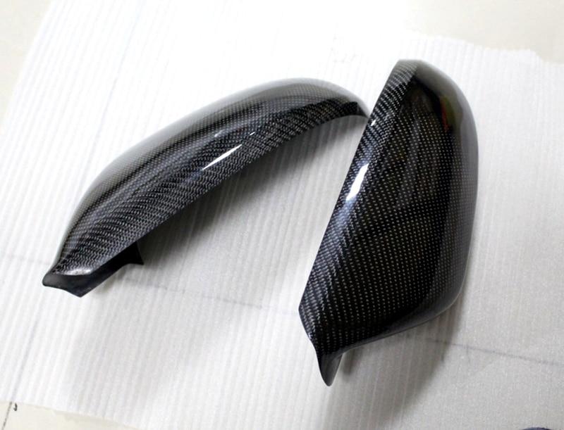 For Audi A6 C7 2012 2013 2014 2015 carbon fiber Rearview mirror cover trim 2pcs<br><br>Aliexpress
