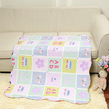Cute Children Cotton Quilt Patchwork Cartoon Printed Air Conditioner Handmade Quilts School Back Gift for Kids High Quality