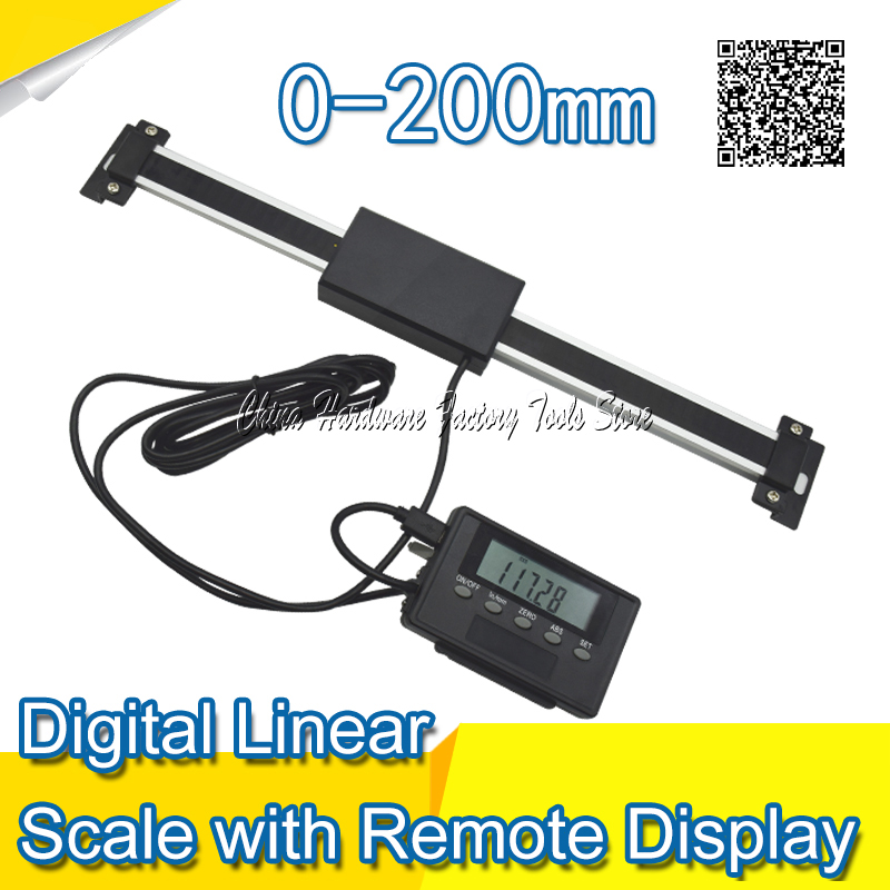 Free Shipping 0-200mm Readout Digital Linear Scale with Remote Display External Display ruler digital readout remote display<br>