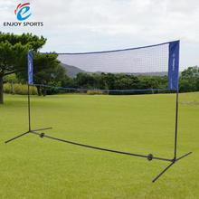 3m/5m Portable Quickstart Tennis Badminton Net System Indoor Outdoor Sports Volleyball Training Square Mesh Net Blue