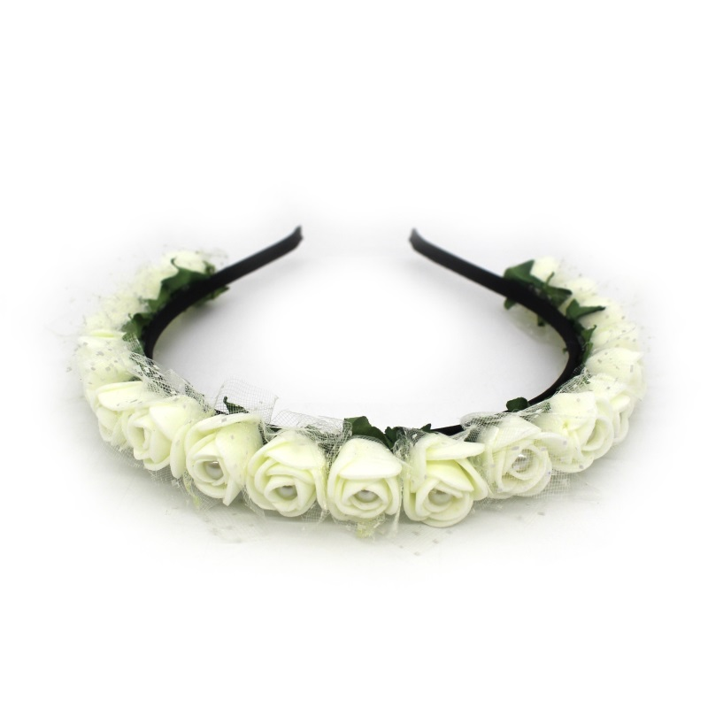 Lanxxy 17 New Fashion Pearl Flowers Hairbands for Girls Women Wedding Bridal Hair Accessories Floral Headbands 1