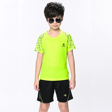 Free print Children Tennis clothes boy shirt , Sports children table tennis clothes girl , Wicking Badminton clothes Suit 5067(China)