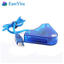EastVita Joypad Game USB Dual Player Converter Adapter Cable for PS2 Dual Playstation 2 PC USB Game Controller With CD Driver Z3