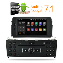 2G Ram android 7.1 Car dvd Stereo Player Auto Radio For Mercedes Benz C Class C200 C180 W204 2008-2013 Auto GPS Navigation(China)