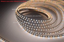 Dual Color CRI>95 SMD3528 CCT Color Temperature Adjustable & Dimmable LED Strip Light W+WW DC12/24V 120LEDs/m 5m/reel(China)