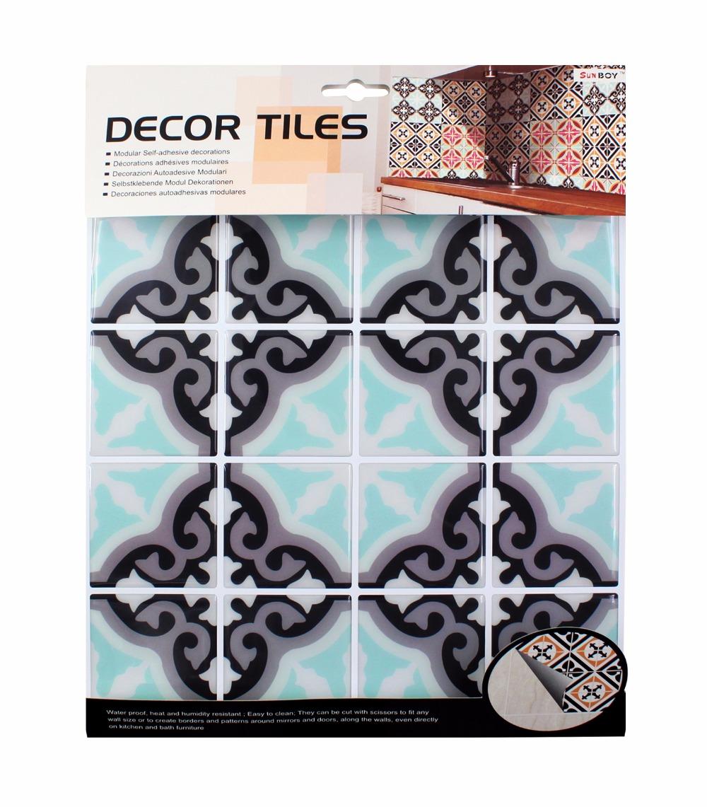 Kitchen bathroom special 3D wallpaper mosaic waterproof Size 10*10 ...