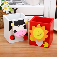 Multifunctional Creative Animal Pen Pencil Container Holder Cartoon Craft Office Desk Accessories Children