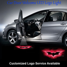 2x 3D Red Batman Logo Wired and Drill Car Door Welcome Courtesy Laser Projection Ghost Shadow Puddle LED Light #C0213
