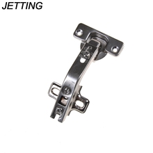 JETTING 1PCS 135 Degree Corner Folded Cabinet Door Hinges Kitchen Bathroom Cupboard Hinge 2 Holes For Home Tools(China)