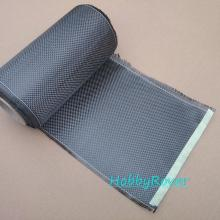 "[Grade A] 3K 200gsm Plain Real Carbon Fiber Cloth Carbon Fabric 8""/20CM width A4 size 20X30cm(China)"