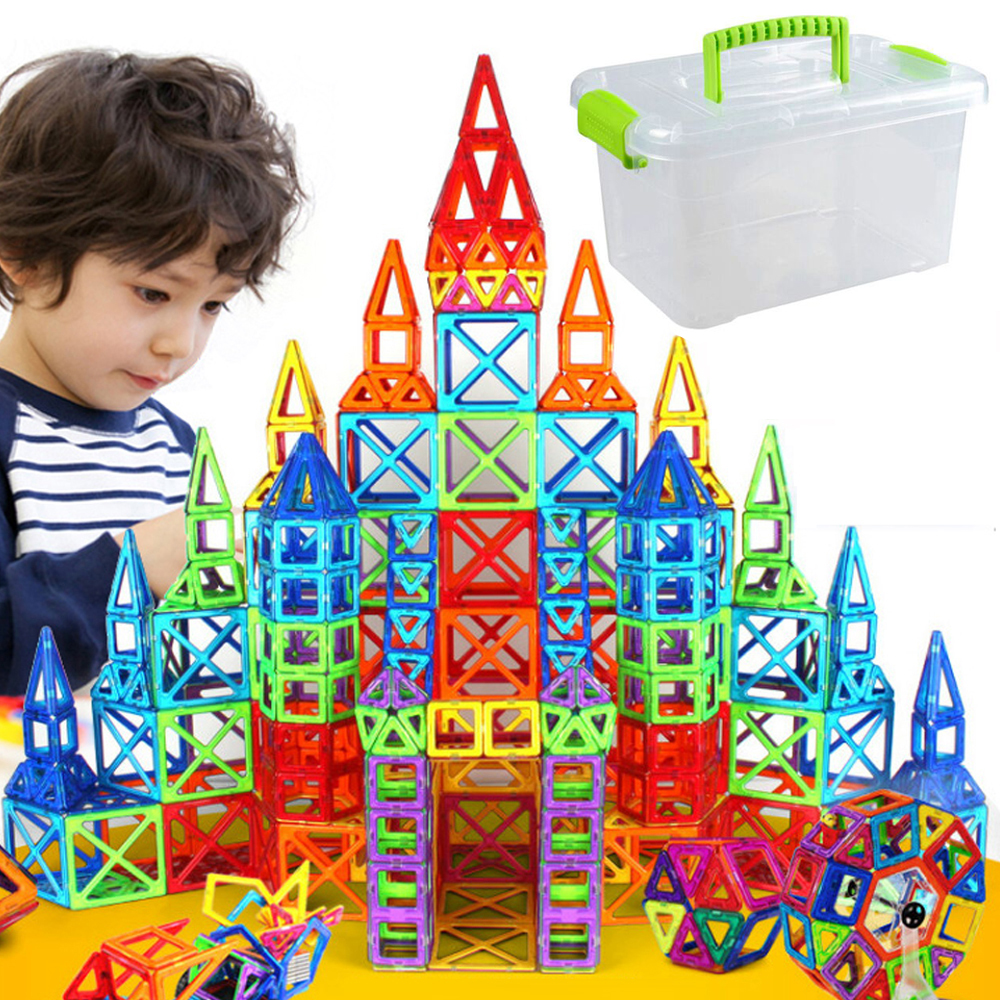 Mini-166pcs-Magnetic-Designer-Construction-Set-Model-Building-Toy-Plastic-Educational-Magnetic-Blocks-Toys-For-Kids
