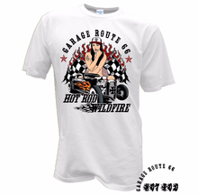 LEQEMAO Hot Selling 100 % Cotton Men T Shirts Round Neck Pin Up Girl Custom Car Vintage Garage Retro Rat Rod V8 Biker cool Tee(China)