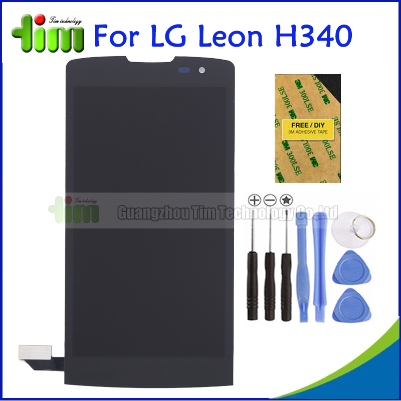 Replacement Spare Parts For Lg Leon H340 H320 H324 H340N H326 MS345 C50 LCD Display+Touch Screen Digitizer Assembly Black+Tools<br><br>Aliexpress
