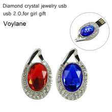 2016 New Fashion diamond Real Capacity Jewelry Crystal Necklace accessories 8GB 16GB 32GB Pen Drive Pendrive USB Flash Drive