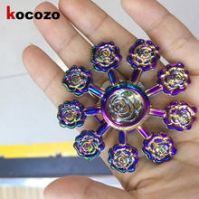 Buy Colorful 9 pcs Rose Flower Hand Spinner Metal Fidget Spinner Hand Finger Gyro EDC Focus Toy Tri-spinner Stress Toy Gift for $8.20 in AliExpress store