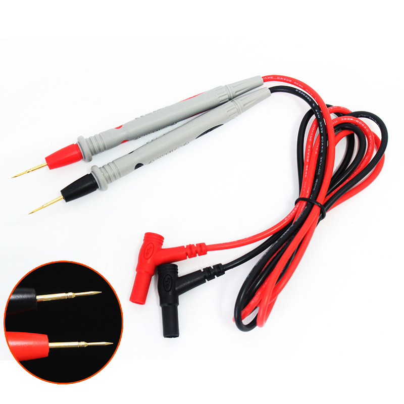 1 Pair Silicone wire Universal Probe Test Leads Pin for Digital Multimeter Needle Tip Multi Meter Tester Probe 20A 1000V